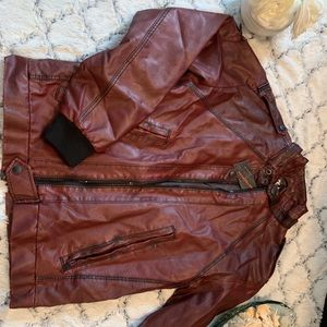 Metropark Jackets & Coats - NWT Metro park faux leather jacket